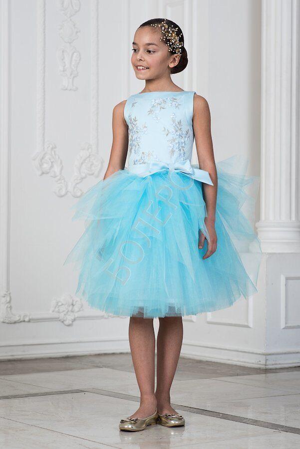 46e2c14f526 Нарядное платье для девочки модель 344 цвет розовый И ГОЛУБОЙ 2950+